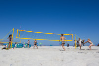 Woman's volleyball on Camps Bay beach [1503148695]