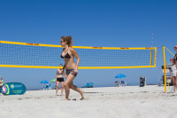 Woman's volleyball on Camps Bay beach [1503148698]