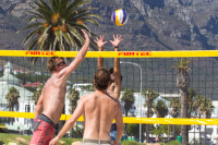 Men;s volleyball at Camps Bay beach [1503148699]
