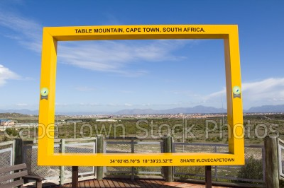 view,houses,lookout hill,khayelitsha,viewing deck,table mountain frame,township