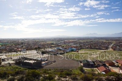 view,houses,boland mountains,lookout hill,khayelitsha,viewing deck,township