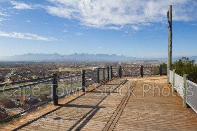 view,houses,lookout hill,khayelitsha,viewing deck,township