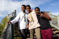 Locals at the Viewing Deck on Lookout Hill in Khayelitsha [1506060252]