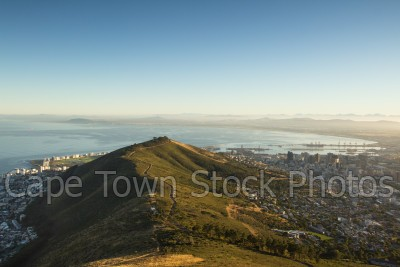 signal hill,lions head,table bay,hiking